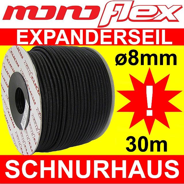 10m 8mm Expanderseil PP ummantelt,UV-beständig,mit Monoeinlage Weiß
