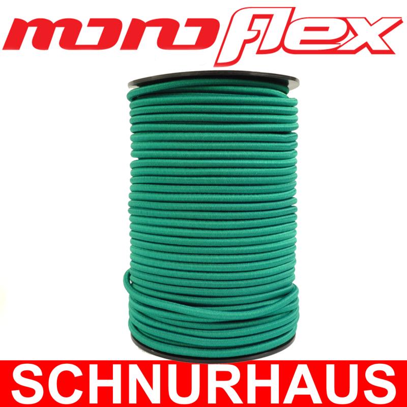 40m Monoflex Expanderseil ø 6mm grün Gummiseil Planen Pkw-Anhänger Ersatzteile Planen