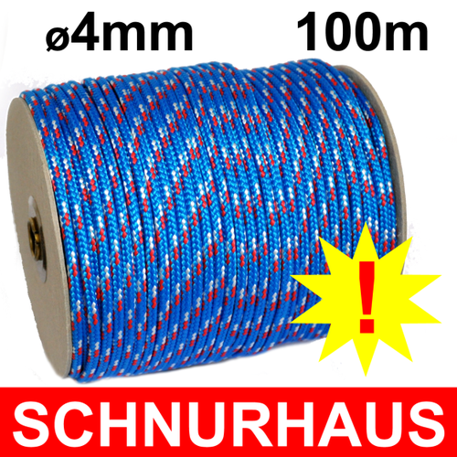 6mm,Schot,Seil,Festmacher,Seile,Tauwerk,Reepschnur,25m,weiss-rot,neu 0,59 €//m