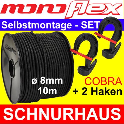 30 m Monoflex Gummiseil ø 8mm blau Expanderseile