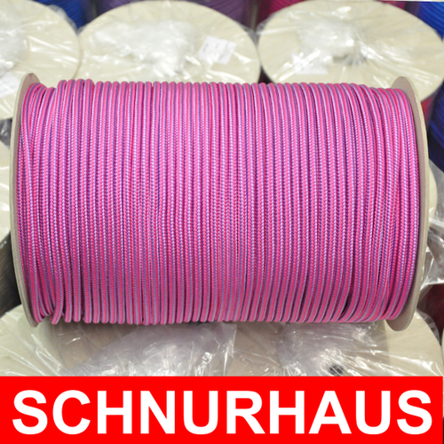 6mm PP 50m SCHNURHAUS Schnur violett Schot Flechtleine Reepschnur rope Seil lila