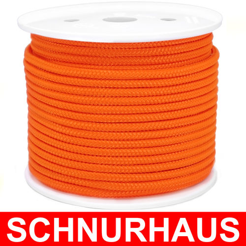 6mm PP 500daN PP-Schnur orange Seil Polypropylen ( orange cord, rope )