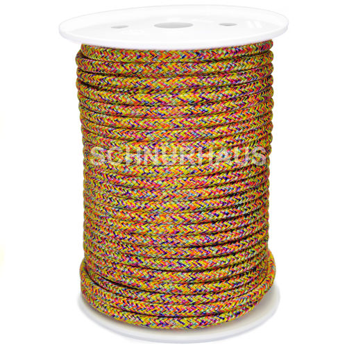 6mm PP 500daN PP-Schnur 50m multicolor Seil Polypropylen ( multicolor cord, rope )